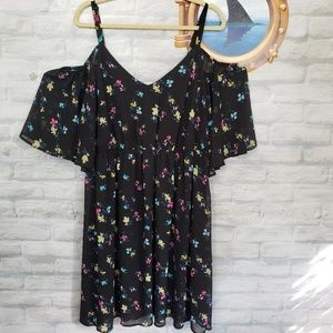 Torrid cold shoulder floral dress